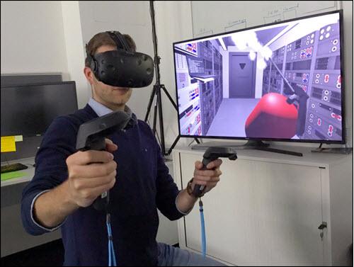 Man in VR training