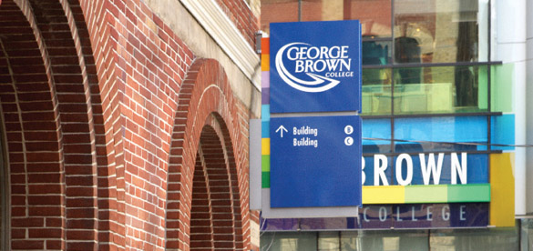 Image of George Brown college and sign